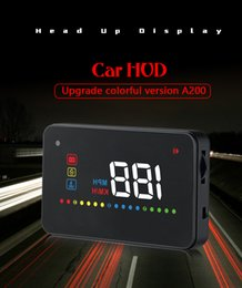 $enCountryForm.capitalKeyWord Australia - A200 Head Up Car Universal Display Digital GPS Speedometer 3.5 Inch Auto HUD Windshield Projector Electronics Over Speed Alert Function