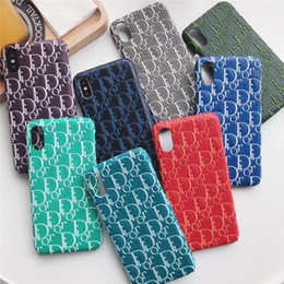 Phone cover trend online shopping - TPU Leather cover iPhone s Plus famous French brand and Paris fashion trend mobile phone shell for iPhone XS Max XR X