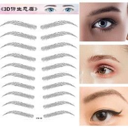 false eyebrows wholesale UK - Fashion 3D Bionic Eyebrow Patch 3D Mink Hair False Eyelashes Natural Thick Long Eye Lashes Wispy Makeup Beauty Extension Tools