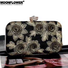 3bc83ddb06bc Ch Bags Australia - outlet brand women handbag new flower bead embroidery  dinner bag high-
