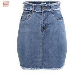Wholesale female pencil jean for sale - Group buy Skirts Pencil Sexy Denim Women Jeans Tassel High Waist Bodycon Mini Skirt Female Casual Streetwear Skirt Summer