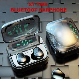 $enCountryForm.capitalKeyWord Australia - X7 TWS Ture Wireless Bluetooth5.0 Stereo Headphone Noise Cancelling Sport Earphone With LED display Charging Case