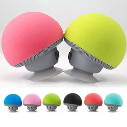 $enCountryForm.capitalKeyWord Australia - Mushroom Shape Bluetooth Mini Speaker With Mic Suction Cup Stereo Subwoofer Phone Holder Bracket Kickstand For Phone Laptop