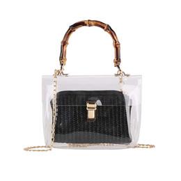 Cross Hand Bags Australia - Summer 2019 Fashion Small Handbag Transparent Women Hand Bags Chain Straw bags Lady Travel Beach Shoulder Cross Body Bag Holiday