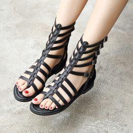 $enCountryForm.capitalKeyWord Australia - Pretty2019 Bottom Flat Sexy Toe Rome Woman Sandals Joker In Cool The Cylinder Boots