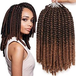 $enCountryForm.capitalKeyWord NZ - 8 Inch Havana Mambo Twist Crochet Hair Tight and Bouncy 7 Packs Short Senegalese Twist Hair Crochet Braids 15 Strands Pack (T1B 27#)