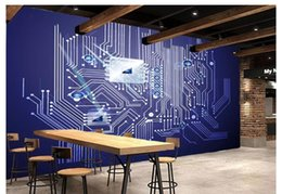 Custom advanced personality wallpaper 3D stereo modern technology circuit board tooling background wall 3d wallpaper