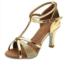 0e692ab8 Perimedes Girl Zapatos de baile latino Med-Heels Satin Shoes Party Tango  Salsa Dance Alta calidad recién llegado Zapatos de baile moderno