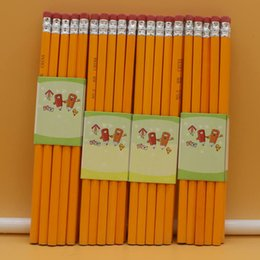 $enCountryForm.capitalKeyWord Australia - 100pcs Kawaii Wood Pencils Lot Cute Yellow Pencils with Erasers for School Office Supplies Stationery Accessories for Kids Write