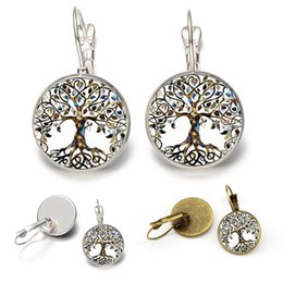 $enCountryForm.capitalKeyWord Australia - New 2 Color Charms Bohemian Earrings Creative DIY Tree of Life Earrings Time Gemstone Silver Plated Ear Hook Fashion Jewelry Women Gift M98F