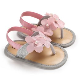 $enCountryForm.capitalKeyWord Australia - Summer Baby Girls Flower Sandal Cute Toddler Floral Princess Non-slip Soft Bottom Cack Shoes For Girls 0-18M