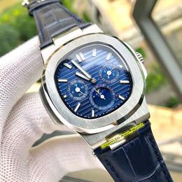 $enCountryForm.capitalKeyWord Australia - 5 Color Top Wristwatch Luxury Mens Watch Blue Dial Nautilus Moon Phase 5740 1G-001 316L Steel Case Mechanical Automatic Men's Watches