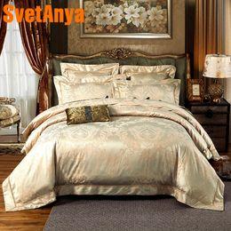 $enCountryForm.capitalKeyWord Australia - Svetanya jacquard Bed Linens Queen Double King size (flat sheet + Pillowcase +Blanket Cover) Bedding Set