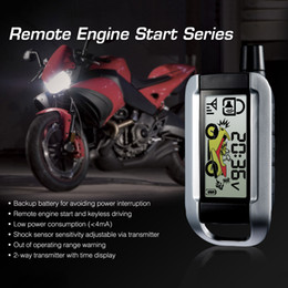 Engine Push Start Button System Australia - Freeshipping Steelmate Alarm System with Auto Push Button Start Stop 986XO Remote Control Central Locking Engine Starline Anti-theft Securit