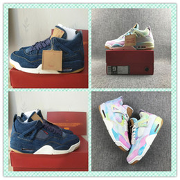 $enCountryForm.capitalKeyWord Australia - 4 Denim White Blue Rainbow game red new mens basketball shoes 4s Jeans mens sports designer Sneakers with box size 7~13