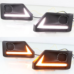 toyota rav4 fog lamps NZ - 1 Set LED DRL Day Light Daytime Running Light Fog Lamp with Dynamic Signal for Toyota RAV4 Adventure 2019 2020