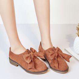 $enCountryForm.capitalKeyWord Australia - YMECHIC Summer 2019 Chunky Heels Slip on Butterfly-knot Womens Shoes Block Heel Black Brown Bowtie Lolita Pumps Woman Plus Size