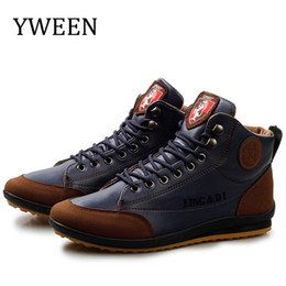 Plus size waterProof snow boots online shopping - Hot Sale Men Boots Spring Autumn Waterproof Leather Shoes Men s Ankle Boots Lace Up Man Shoes Plus Size