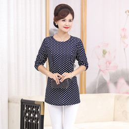$enCountryForm.capitalKeyWord Australia - New Fashion Middle Age Women Mother Clothing Female Office Lady Long Sleeve Plus Size Loose T-shirt Spring O-neck Pullover Tops Y19072001