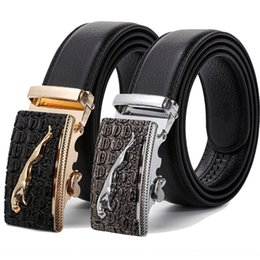 high end leather belt Canada - High-end men's alloy buckle automatic buckle imitation leather business leisure belt Jaguar Trousers and trousers belt formal wear