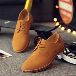 grey suede dress shoes Canada - Hot Sale- Shoes Men Oxfords Dress Shoes Genuine Leather Cow Suede Plus Size 056Derby Prom Formal Wedding Shoes