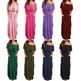 Bright Maxi Dresses Dgt Cheap Summer Maxi Floral Printed Dresses Women Long Dresses 2017 Off the  Shoulder Beach Dresses Sheath Bodycon Floor-Length Holiday FS1179