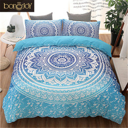 Discount boho bedding - Blue Black Purple Color Bedding Kit for Adult Bedroom Full Queen King Size Bed Set Bohemian Bed Covers Boho Duvet Cover