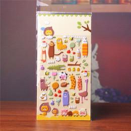$enCountryForm.capitalKeyWord Australia - DIY Cute Kawaii Cartoon 3D Sponge Bubble Sticker Lovely Zoo Animal Bear Giraffe Lion Crocodile Owl for Kids Children Gift Toy