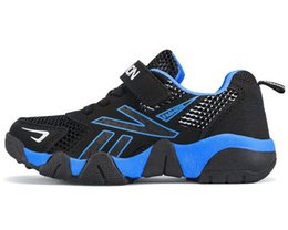 hollow mesh shoes NZ - New Kids'Sports Shoes in Spring and Summer of 2019 Hollow mesh shoes breathable leisure shoes for boys and girls WL227