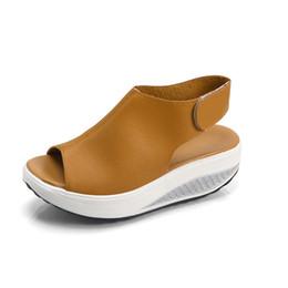 3ec95bb54475d Women Summer Female Sandals Vintage Wedges Platform Shoes Peep Toe Sandal  High Heels Fish Toe Shoes Zapatos Mujer 43