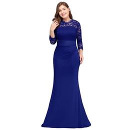 ad01ebb0cf Robe De Soiree Longue Plus Size Evening Dresses 2018 Cheap Red Royal Blue  Long Mermaid Evening Party Gown Dress Vestido De Festa