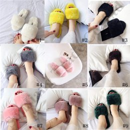 sheepskin wholesale NZ - 2020 Women Fur One Slippers Brand Australia UG Sheepskin Wool Slide Sandals Designer Fashion Home Anti-skid Shoes Luxury Furry Slipper New