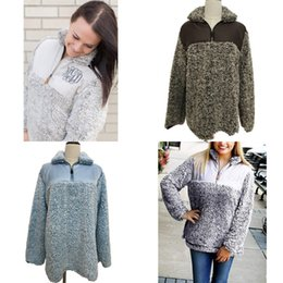 New treNd wholesalers clothes online shopping - Fashion Women Winter Warm Clothing Brand Trend Lamb Wool Sherpa Pullover Lady Designer Stand Collar Outwear New jw Ww