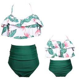 Dependable Emmababy Women Kid Baby Girls Matching Green Leaf Pattern Bikini Swimwear Swimsuit Beachwear Luggage & Bags