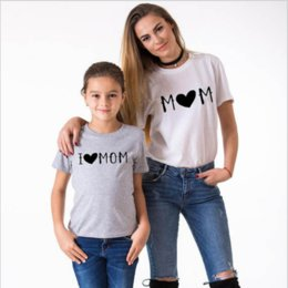 mom son clothing UK - Family Tshirts Girls Boys Mom Mother Mommy and Daughter Son Family T-shirt Family Look Matching T-shirt Mom Mommy and Me Clothes#szl