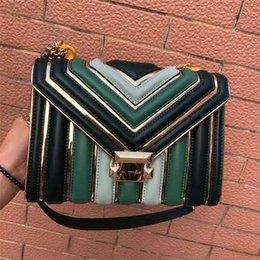 $enCountryForm.capitalKeyWord Australia - Elegant2019 Occlusive Believe Wrap Hit Color Chain V Grain Bag Single Shoulder Satchel Genuine Leather Woman Package The Influx Of Goods