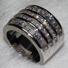 Princess Party Ring Australia - Wholesale Jewelry Free Luxury Jewelry Princess Cut 10ct Topaz Diamonique 10KT White Gold Filled Wedding Engagement Band Women Ring Size 6-9