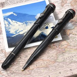 Pen sPecial edition luxury online shopping - New Luxury pen unique MB brand pen size Heritage Collection Ballpoint Pens Special Edition Mon black rolllerball pen Snake clip