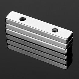 Neodymium N52 Block Magnet Australia - heap Magnetic Materials 3Pcs N52 Strong Cuboid Block Magnet 50*10*5mm Double Hole 4.5mm Countersunk Rare Earth Neodymium Permanent Magnet...