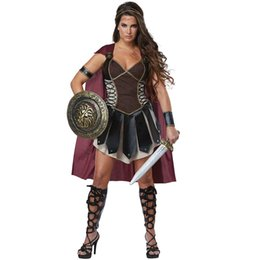 China Adult Women Roman Princess Xena Gladiator Costume Halloween Carnival Party Spartan 300 Warriors Soldier Cosplay Outfit suppliers