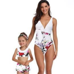 10825e55cb Mother Daughter Swimwear Australia - Mother Daughter Kids Swimwear 2019  Bikini Family Bikini Ruffles Children Mom