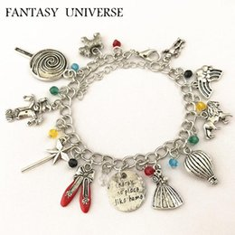 $enCountryForm.capitalKeyWord NZ - Wholesale- FANTASY UNIVERSE Freeshipping 1pc a lot Wizard of Oz Inspired Charm Bracelet MEIN088