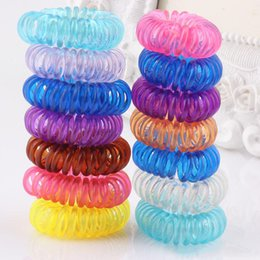 Discount telephone wiring tools - Candy Mix Gift Telephone Wire Line Gum Elastic Hair Band For Girl Rope candy color Tie Hair Ring Rops Women Headdress To