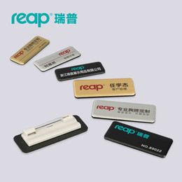 20pcs lot Reap Business Name Tag   ID Badge Personalized - Laser Engraved, pin backing - CUSTOMIZE#7015