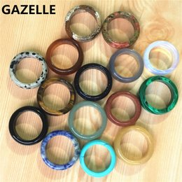 $enCountryForm.capitalKeyWord Australia - fashion rings for women New Hot Top quality Onyx opal Tiger Eye fashion mix color natural stone wedding bands rings lot for