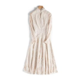 Fairy Style Dresses UK - French minority dress two very fairy web celebrity nifty winter inside a gentle wind winter skirt female late autumn suit
