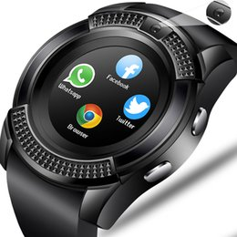 Discount bluetooth windows smart watch - Smart Watch V8 Men Bluetooth Sport Watches Women Ladies Rel gio Smartwatch with Camera Sim Card Slot Android Phone PK DZ