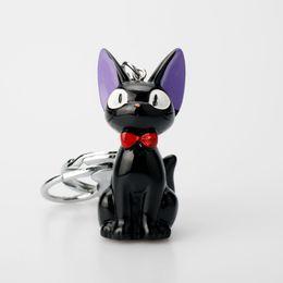 $enCountryForm.capitalKeyWord UK - HEYu Hayao Miyazaki Kiki's Black Cat Jiji Keychain Animal Jewelry Women Bag Decoration Key Ring Car Key Holder
