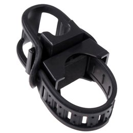 $enCountryForm.capitalKeyWord UK - NEW Bicycle LED Flashlight Torch Mount Holder Clip New Arrival Black Rubber Bike Front Lamp Light Clamp Headlight Holder Swivel #613324