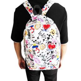14b88dedf435 New Fashion Kpop BTS BT21 Canvas Backpack Shoulder Bag Cartoon Bag Student  Schoolbag Travel Sport Gift for Kid Drop Shipping